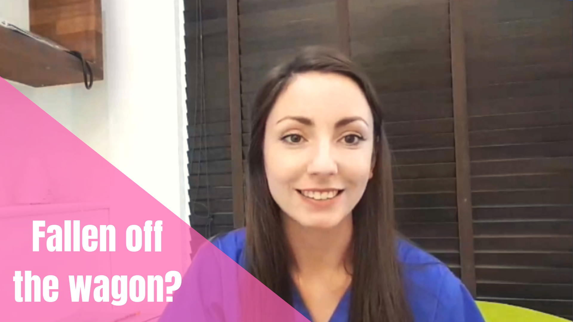 What To Do When You Fall Off The Wagon [Video]